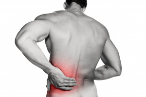 Pain experienced in the lower back