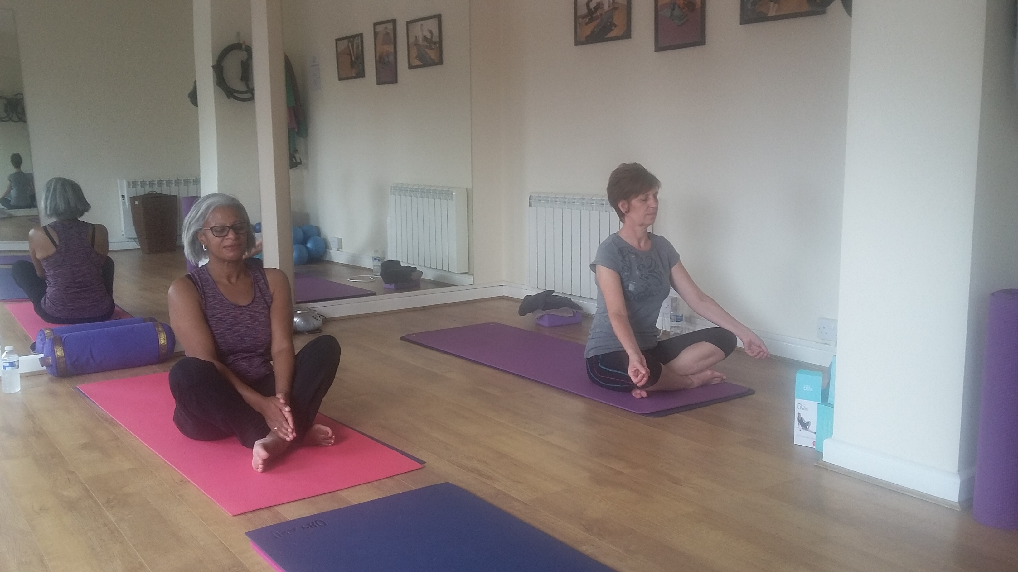 Yoga - meditation phase in our studio here at Elite Therapy