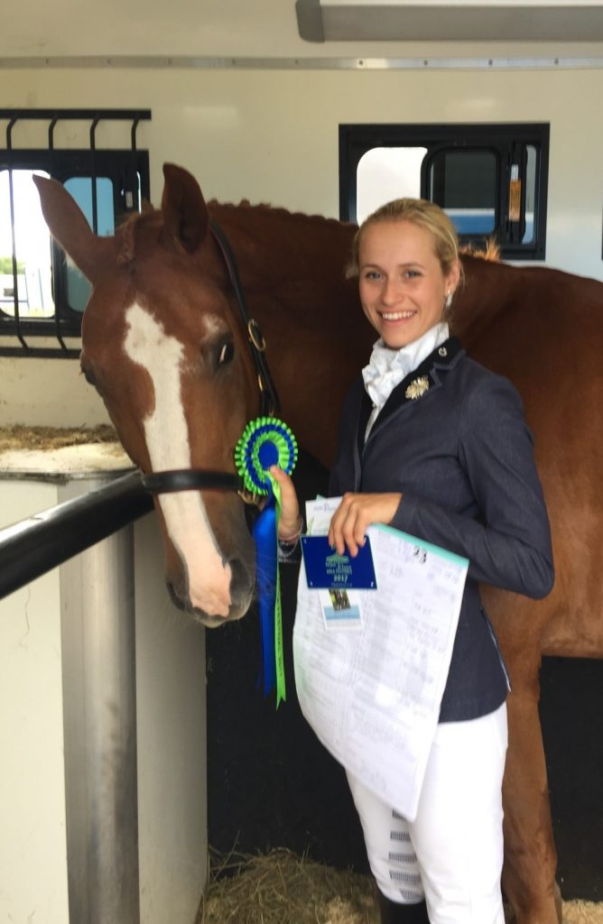 Sophie was placed 10th at the British Dressage Area Semi-finals 2017
