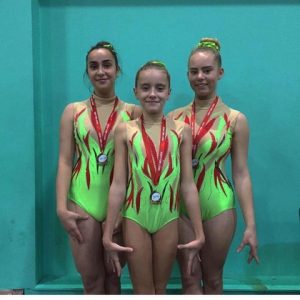 Emma Harris (Right) with her Synergy Trio Team Mates