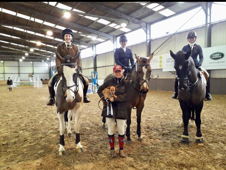 Sophie with her Team mates from Rugby Riding Club at British Riding Clubs Show Jumping Competition