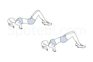 Shoulder Bridge - Excellent for core and glute strength and spine mobility
