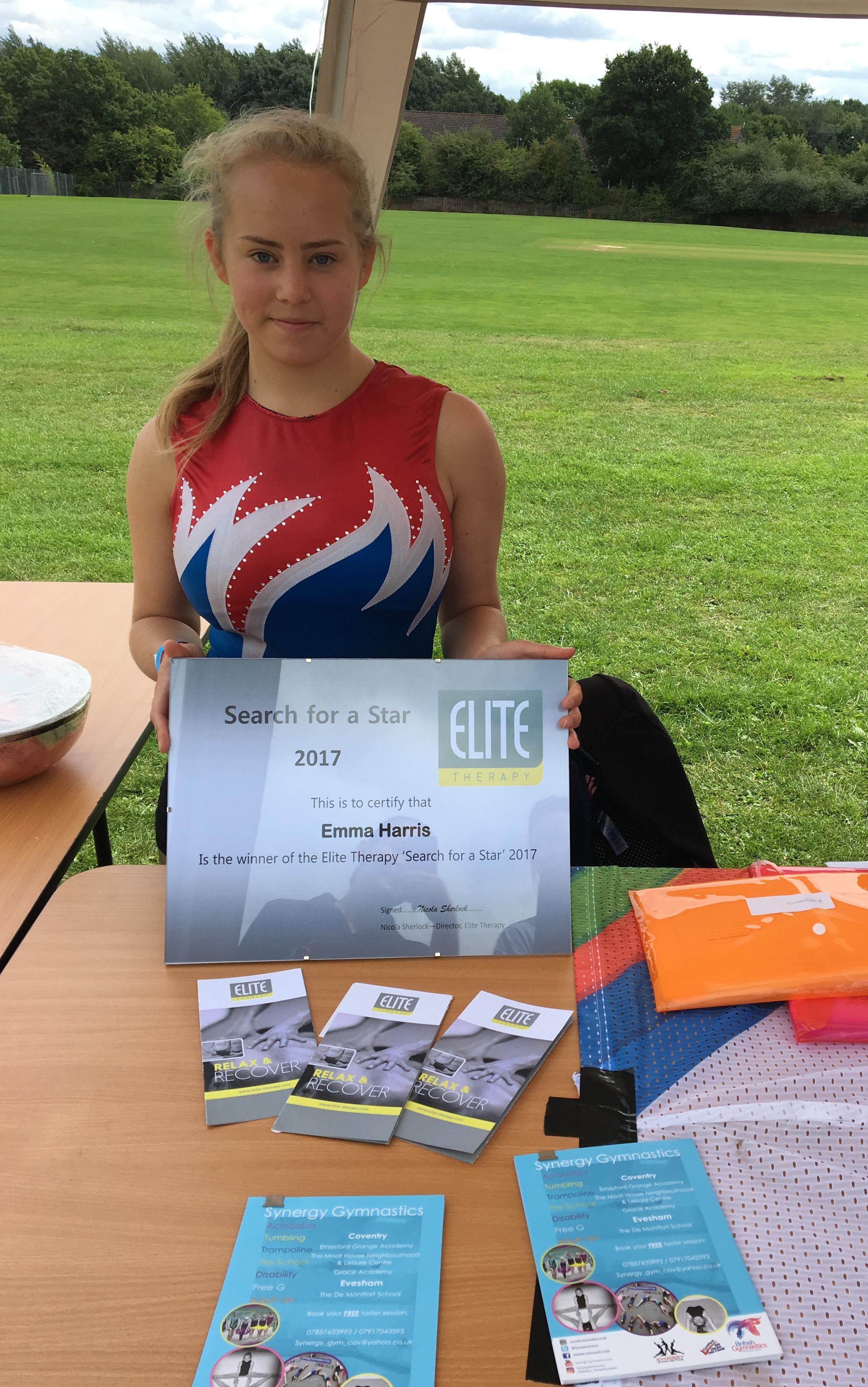 Emma Harris - Elite Therapy Sponsored Athlete